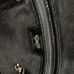 Anya Hindmarch Bags - A ya Hindmarch Black Patent Leather Handbag